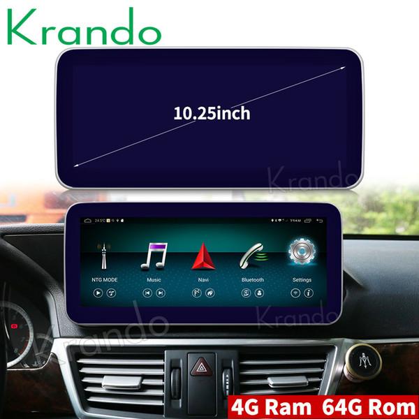 Krando Android 8.1 10.25 'radio de coche DVD navegación para Benz E Class W212 S212 2009-2016 reproductor multimedia GPS BT DVD de coche