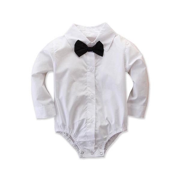 Nuovi ragazzi manica lunga pagliaccetto del bambino papillon pagliaccetto compleanno neonato tutine neonato vestiti tuta Neonato infantile abiti firmati A9669