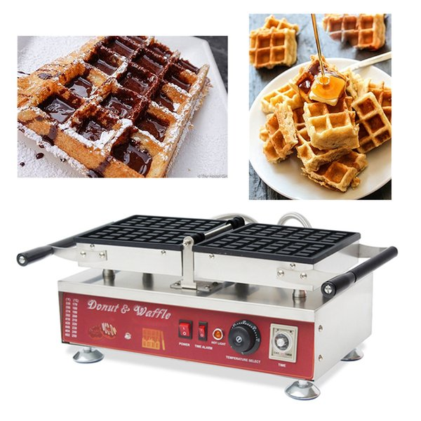 Commercial use nonstick 110v 220v electric type Belgian Brussels Liege Flip Waffle Maker Machine With Rectangle Shaped