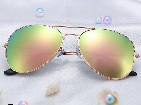Classic sunglasses unisex glasses fashion pilot frog mirror