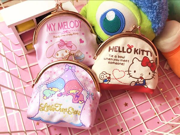 Cartoon Hello Kitty Bag Little Twin Stars Mini Bags Canvas Zero My Melody Coin Purse Kids Handbags Girls Wallet porta moeda P11