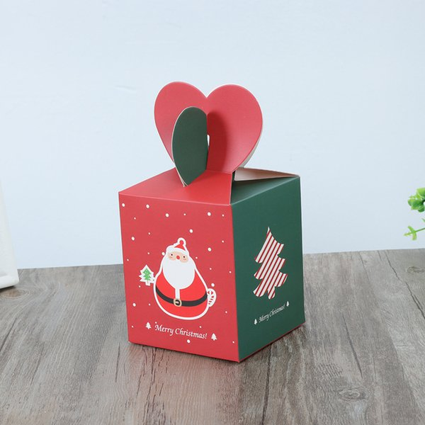 10pcs/lot Merry Christmas Candy Boxes Different Christmas Party Cookies Box Gift Boxes