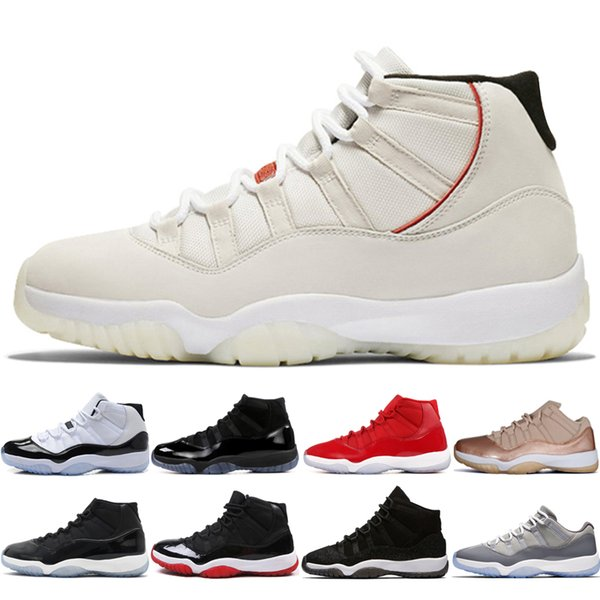 11s Platinum Tint Concord 45 Mens Scarpe da basket 11 Cap and Gown Blackout Gym Rosso Midnight Navy Bred Space Jams sneakers sportive designer