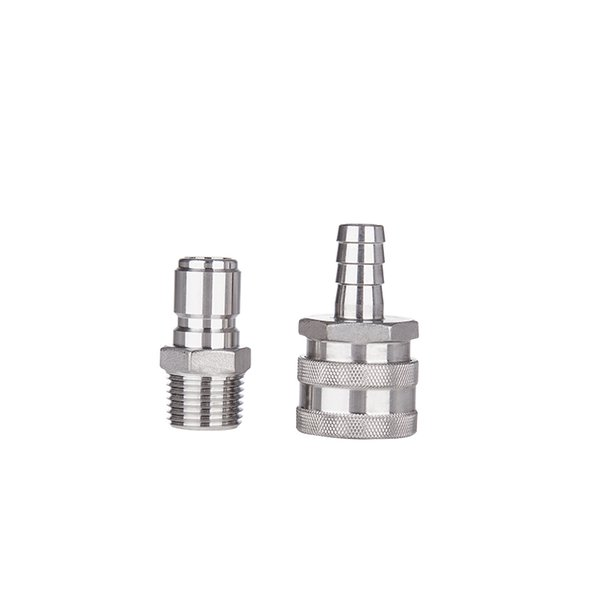 """fitting npt Stainless Female Quick Disconnect Set, Homebrew Fitting, 1/2\""""BSP, Wholesale and Retail beer Quick Disconnect for home brewring"""