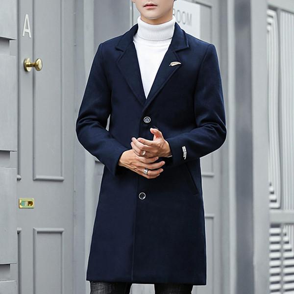 Fashion-мужчины выбирают осень зима длинные пальто с листом брошью Мужской траншеей пальто кардигана мужчинами манто длинного Homme Азиатского размером TR03