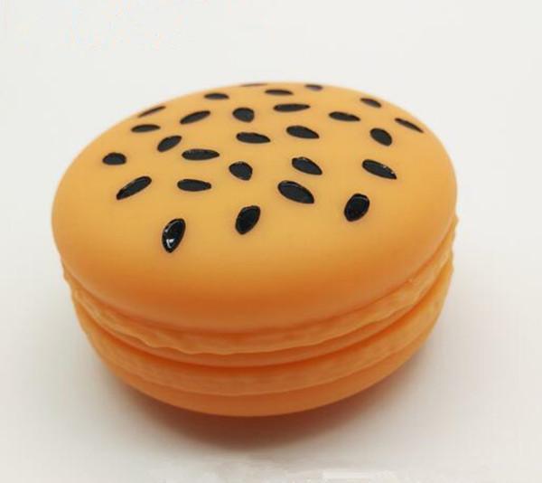 Outil d'huile de noisette hamburgers forme de qualité alimentaire contenant de la silicone 48ml cire silicone Concentré de stockage de cas de DHL