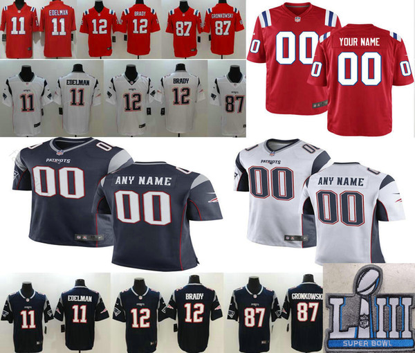 promo code 0751e 49e9b 2019 New Custom Men Women Kids Youth 2019 Super Bowl LIII Patriots Dont'A  Hightower Sony Michel Josh Gordon Tedy Bruschi Randy Moss Jerseys From ...