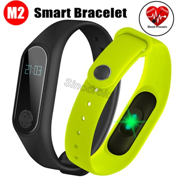 M2 Smart Bracelet smart watch Heart Rate Monitor bluetooth Smartband Health Fitness Smart Band for Android iOS activity tracker DHL 100pcs
