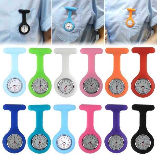 Nurse Watch Silicon Batteries Pocket Watch Zebra Leopard Prints Pocket Watches Chest Table Kids Gift Watches Hot Sale Watch MMA1822