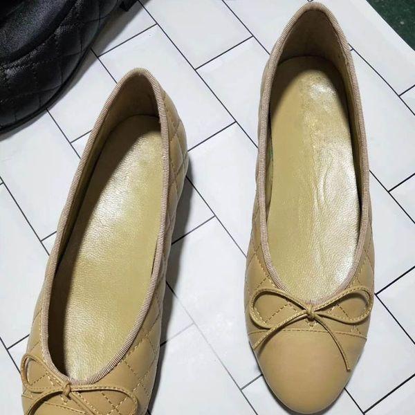 Üstün Düz tabanlı Ayakkabı Kadın Deri, BEJ SIYAH 9-color Suit Ayakkabı Kadın Elbise ve Dans Ayakkabıları Ücretsiz Teslimat