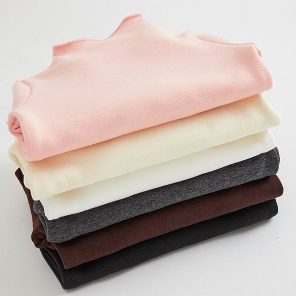 2018 Camisa de invierno para niña Camisa de bebé gruesa para niños Camisa básica de algodón Velvet Girls Tops Tops Ropa camiseta para niños pequeños, # 3772