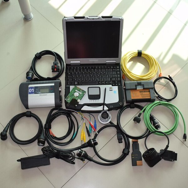for BMW ICOM A2+B+C Diagnostic Scanner and mb star c4 with latest V2019 HDD in cf-30 laptop ready to use