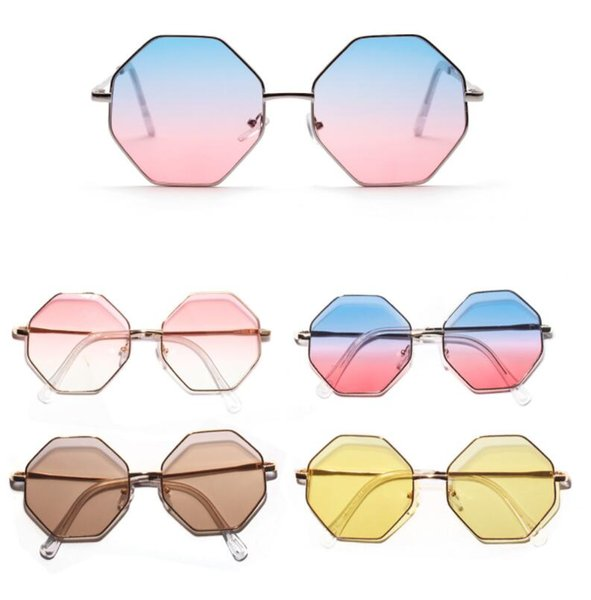 2019 Women Fashion Square Sunglasses Colored transparent Marine lens Sun Glasses Elegant Brand Designer polygon diamond glass men