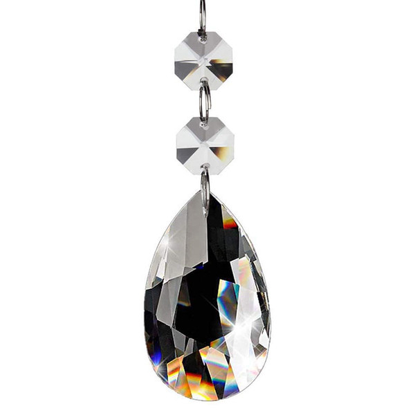 20Pcs Chandelier Crystals,Clear Teardrop Crystal Chandelier Pendants Parts Beads,Hanging Crystals For Chandeliers(50Mm,Clear)