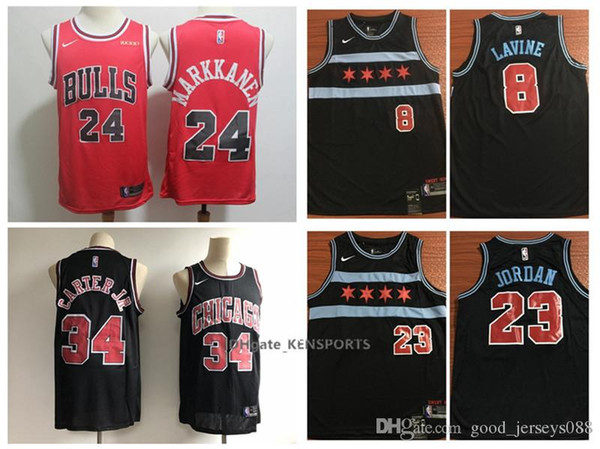 hot sale online 18c59 fb0e5 2019 Men Chicago Basketball Bulls City Edition Jersey 8 Zach LaVine 24  Lauri Markkanen 23 Michael JD 34 Wendell Carter Jr. ALL Stitched Jerseys  From ...