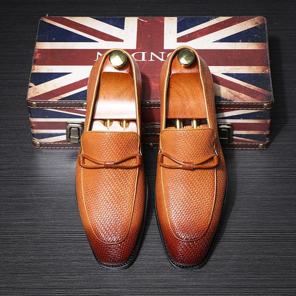 Popüler Erkek Ayakkabı Dokuma Püsküller Derby Ayakkabı Will Kod İş İşleri Deri Shoes