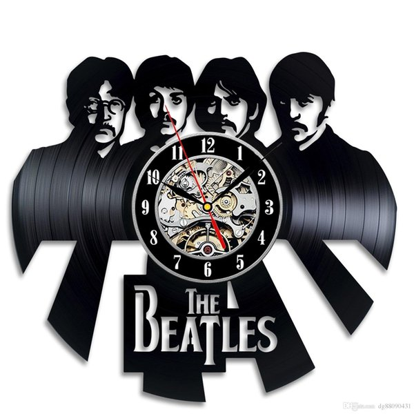 Vinyl Wall Clock The Beatles Fan Gift Children's Room Decor Idea Home Art Party Decoration Party Decoration Halloween