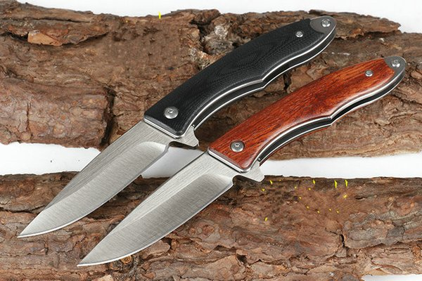 two colors xiaosha 8CR18MOV blade G10 or rosewood handle ball bearing Tactical Hunting Knife Multi Tools Pocket Survival gift knife 1pcs Ad