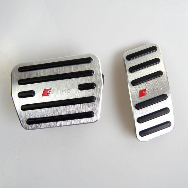 No profundizar Coche de aluminio del pedal del acelerador Gas cubierta del pedal del pedal de freno para Audi A3 (2014-2018) con el logotipo S
