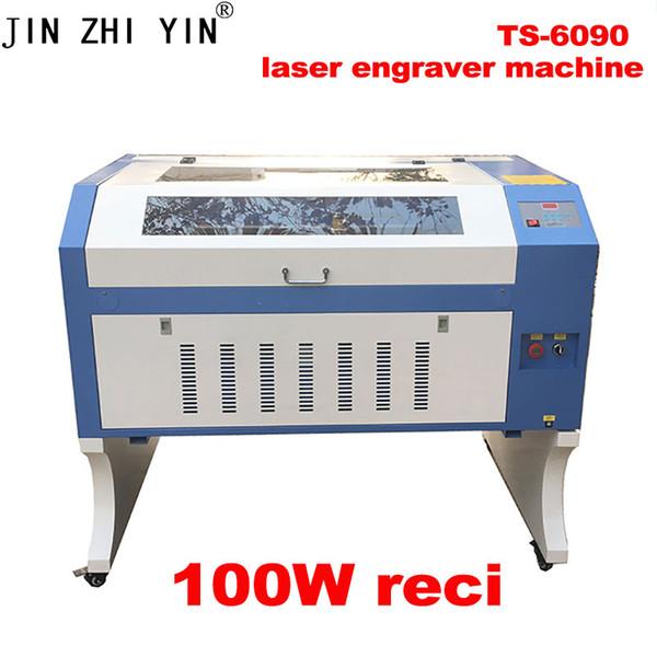 JINZHIYIN 100 W máquina de corte a laser de gravação a laser 6090 madeira cortada a laser acrílico mdf DIY sistema de controle M2 M2 10 V / 220 V Favo de mel