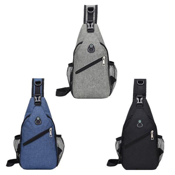 FIRECLUB Canvas Chest Bag Hommes Casual Sac à bandoulière Messenger Sac À Dos Sauvage Multi-fonction Poche En Plein Air