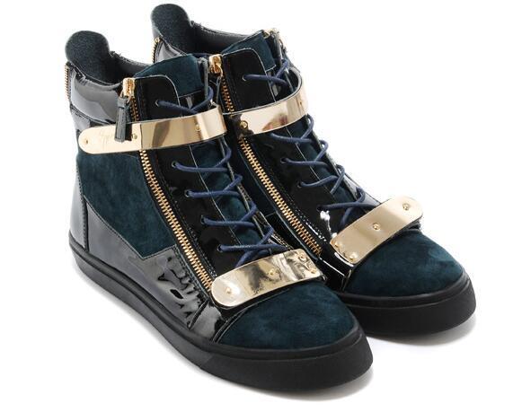 Las señoras de la joyería de lujo de charol calzan los zapatos de los hombres que corren los zapatos de los altos zapatos que envían libremente a2
