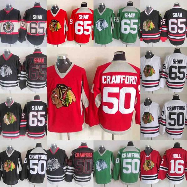 the best attitude daf56 acd3f 2019 65 Andrew Shaw Chicago Blackhawks Jersey Hockey 50 Corey Crawford 16  Bobby Hull Duncan Keith Toews Artemi Panarin Patrick Kane Hossa Hockey From  ...