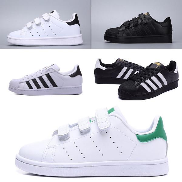 Acheter Adidas Superstar 2019 Enfants Super Star Blanc Hologramme Iridescent Junior Superstars Années 80 Fierté Enfant Garçons Filles Baskets