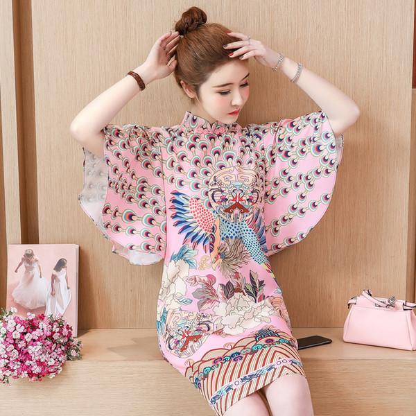 2019 novia cheongsam largo moderno qipao encaje vestidos de estilo oriental chino vestido de boda tradicional vestido de mujer qipao