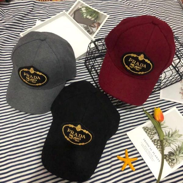 Cappelli di lusso Cappelli di design famosi Cappellino da baseball Cappello per uomo Cappelli da donna Cappelli regolabili 3 colori Opzionali Autunno Inverno Hot Top Alta qualità