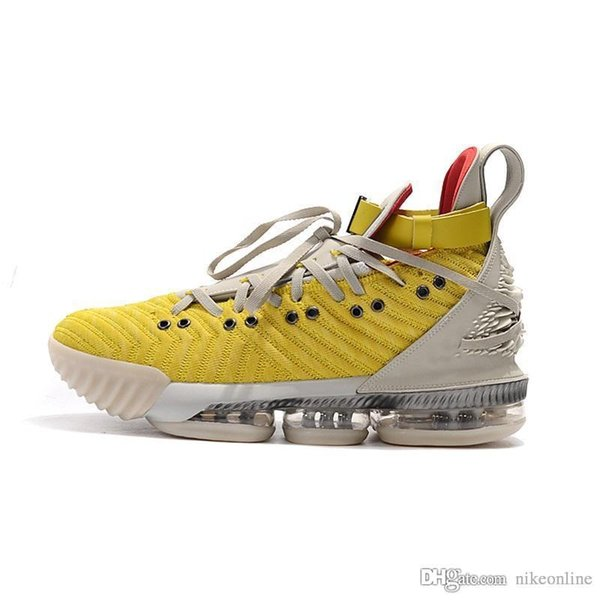 Cheap mens lebron 16 basketball shoes high HFR Bright Citron Yellow White Blacks Gold Red lebrons 16s sneakers boots with box size 7 12