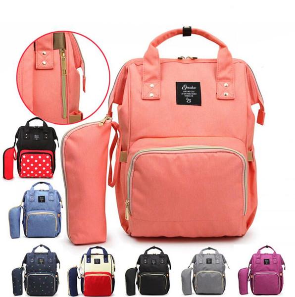 10style Mommy Backpack Nappies Diaper Bags Oxford Cloth Waterproof Maternity Backpacks Mother Handbags Outdoor Nursing Storage Bags GGA2179