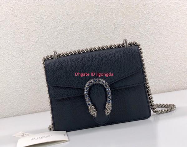 Borsa a tracolla da donna taglia 20 * 15,5 * 5 cm borsa da donna a forma di testa di serpente di alta qualità con catena a catena
