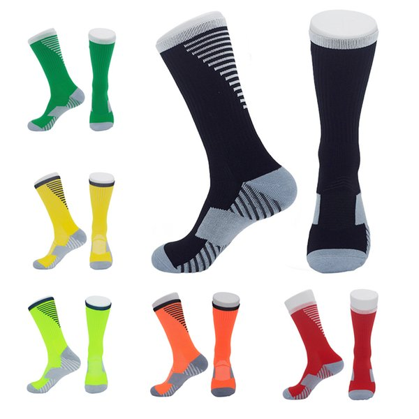 High end None-Slip Football Socks Wear-Resistant Towel Bottom Elite Basketball Socks Sweat-Absorption Racing Cycling Running Stocking M113Y