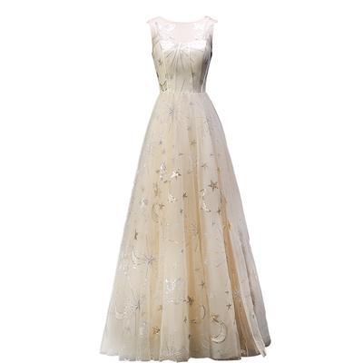 stelle e lune paillettes ricamo fata corte abito medievale rinascimentale Abito regina vittoriano / Marie / Belle Ball / stage / ball gown