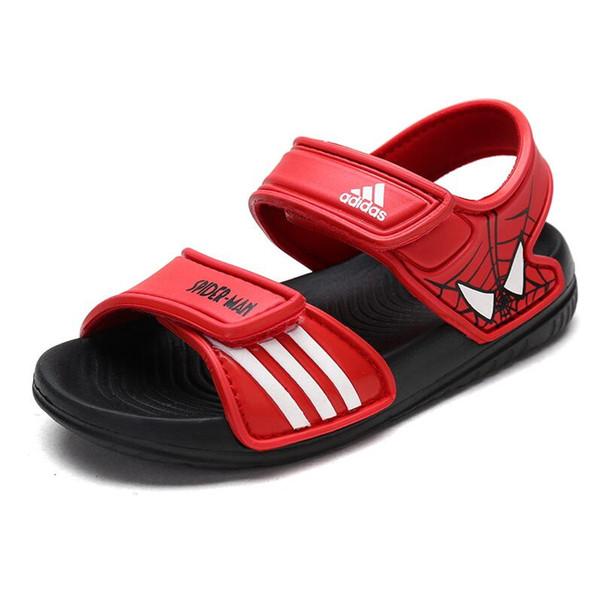 Compre Nuevos Niños Sandalias De Marca ADIDAS Patrón De Verano Zapatos Para Niños Magia Suave Inferior De Goma Antideslizante Pequeña Princesa Tamaño