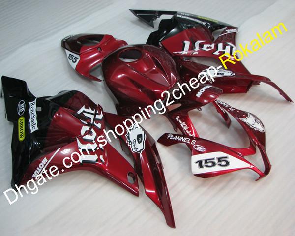 Kit de carenado barato para Honda CBR600RR F5 2009 2010 2011 2012 CBR600 600RR RR F5 Kit de carenados de carrocería roja (moldeo por inyección)