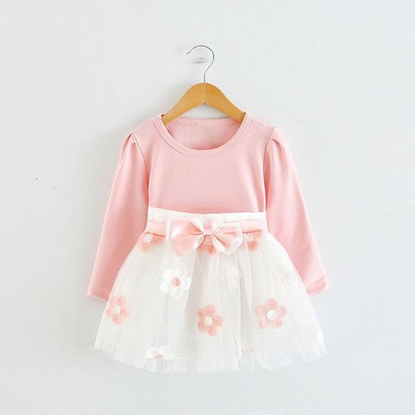 Vestito da compleanno per bambina da 1 anno a manica lunga 0-2T Abiti da battesimo per neonato Ragazza invernale Abiti casual Vestido Infantil