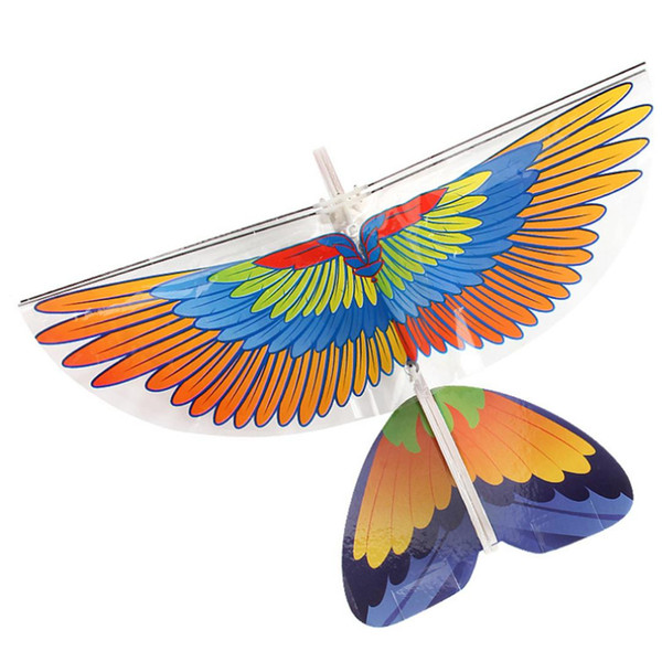 Rowsfire 1 Pcs DIY Electric Infra-Red RC Kite Flying Bird Toys Outdoor Sports - 340A Eagle/ 340B Parrot Type