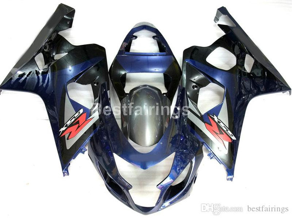 Kit carénage ABS de moto pour SUZUKI GSXR600 GSXR750 2004 2005 bleu noir GSXR 600 750 K4 K5 carénages EE44