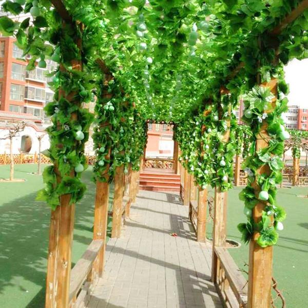 24pcs/Lot 2.3m Artificial Ivy Leaf Garland Plants Vine Fake Foliage Flowers Plastic Plants For DIY decoration