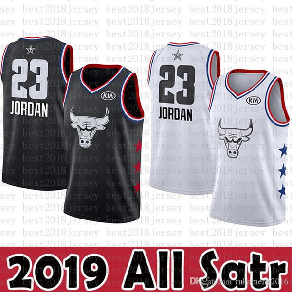 quality design f0113 e3a71 2019 2019 All Star New Chicago Jersey Bulls 23 Michael Basketball Jersey  Minnesota 25 Timberwolves 25 Derrick # Rose Jersey Black White KIA From ...