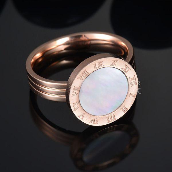 acier inoxydable d'or numérique Femme de mariage Hommes Marque amateurs de créateurs Anneau pour les femmes de luxe bijoux de fiançailles Bagues Accessoires de mode
