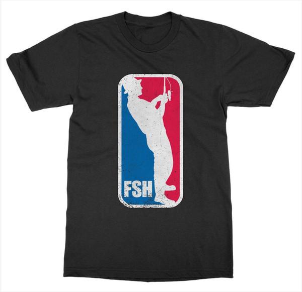 FSH Camiseta Línea de Pesca Cast Hook Spinner Bait Catch Agua Barco Pescador BiteFunny envío gratis Unisex Camiseta Casual