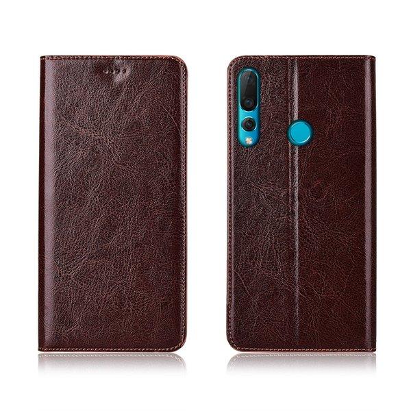 Cas de téléphone de haute qualité pour Huawei Nova 4 sac de téléphone en cuir de vachette véritable avec fente pour carte pour Huawei Nova 4 Flip Case Kickstand