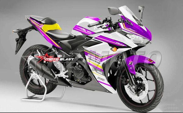 4Gifts New Injection ABS Mold Motorcycle plastic Fairing Kit For YAMAHA R3 R25 2015 2016 15 16 Fairings Bodywork custom purple white