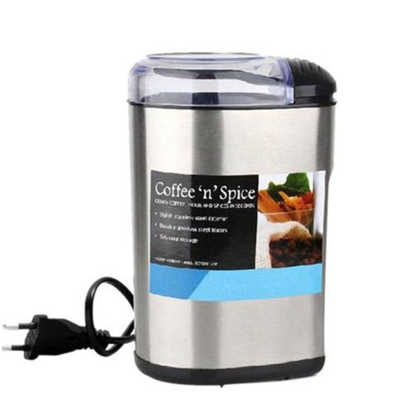 Stainless Steel Electric Grinder Small Household Commercial Coffee Beans Grinding Machine 220V EU Plug Milling Grinder