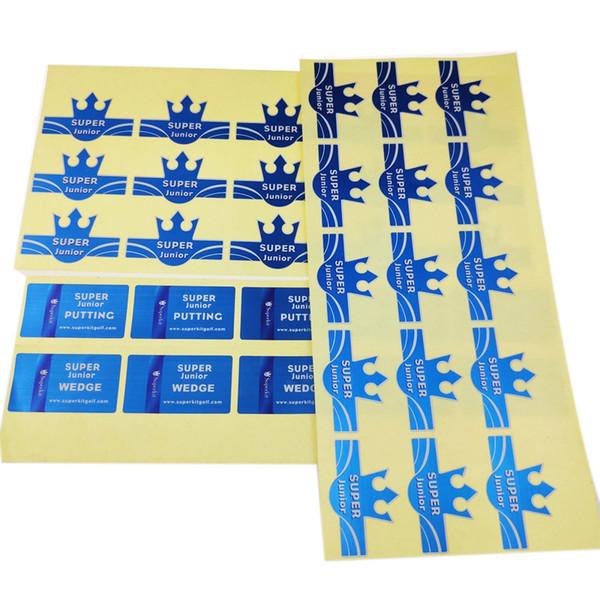 printed blue metal silver film logo label custom new glossy package adhesive sticker label metallic irregular die-cutting label