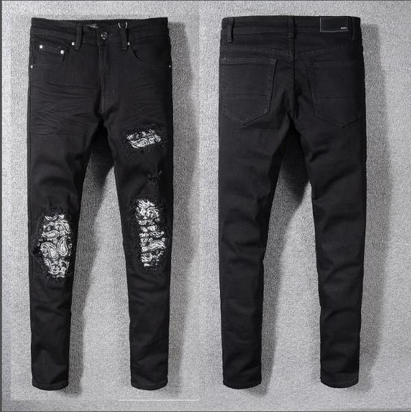 Lange Hosen der Männer Hip Hop Jeans drucken Printd Reißverschluss 2019 Neu-Ankunfts-Art- und Weisebekleidungs-Reißverschlüsse Multi-Style und Multi-Color populäre Kleidung