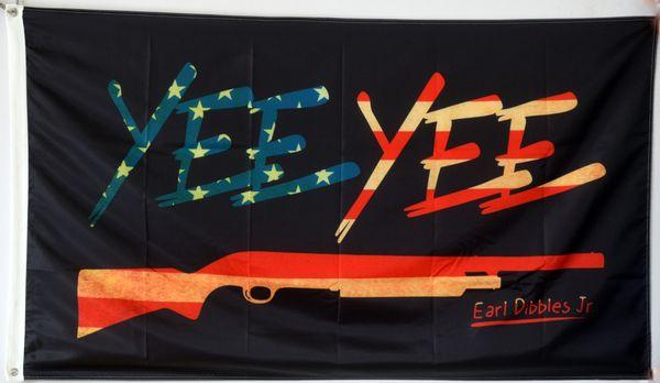 Américain Colonial Antiqued Yee Yee Black Flag nouveau